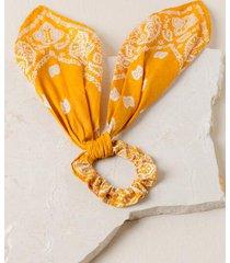 kira bandana pony scarf in marigold - marigold