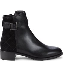 orietta leather & suede booties