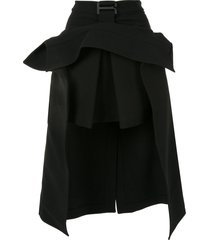 dion lee suspended trench skirt - black