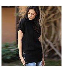 100% alpaca sweater, 'ebony style' (peru)