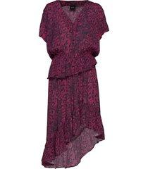 luna jurk knielengte rood ravn