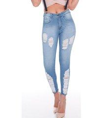 jeans mujer araya celeste best west jeans