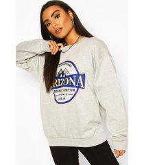 oversized gebleekte arizona sweater, grijs gemêleerd