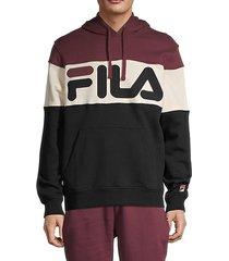 colorblock logo hoodie