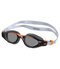 óculos de natação vulcan cinza e laranja