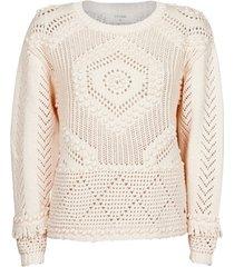 trui cream celeste knit