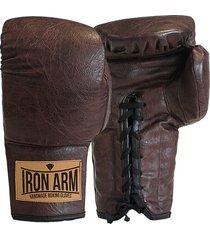 luva boxe muay thai classic couro cafã© iron arm cadarã§o pu - cafã© - dafiti