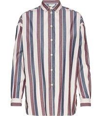 edith poplin shirt overhemd met lange mouwen multi/patroon lexington clothing