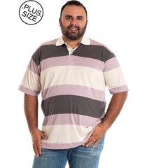 camisa polo konciny plus size listrada