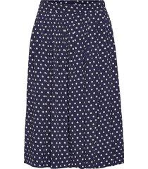 skirt knälång kjol blå noa noa