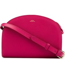 a.p.c. demi-lune crossbody bag - pink