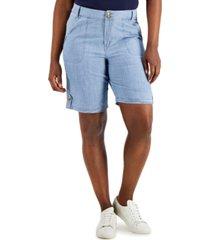 karen scott denim bermuda shorts, created for macy's