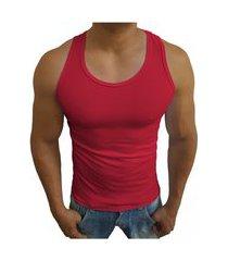 camiseta masculino estilo americana regata tank07 sjons vermelho