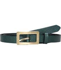 cinturon delgado clasico verde pollini