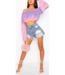 ombre off the shoulder top, purple