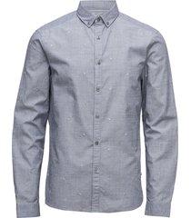 galen_bd micro paint skjorta blå calvin klein