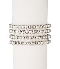 eye candy la women's sophia 18k white goldplated bead bracelet