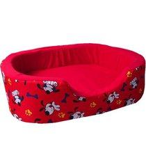 cama para perro tipo cuna mediana - roja