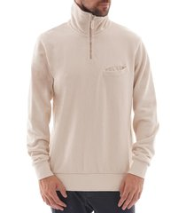 universal works half zip sweatshirt - ecru 51603