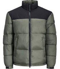 gewatteerde jas high-neck