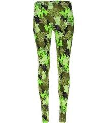 leggings sport combinacion de color color verde, talla s