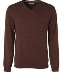 no excess pullover v-neck 2 color rusty