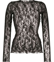 wolford katharina stretch-lace pullover - black