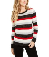 charter club striped crewneck sweater, created for macy's