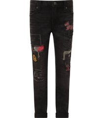 ralph lauren black jeans for boy with patch