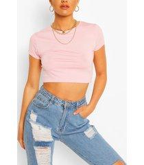 cap sleeve crop top, pink