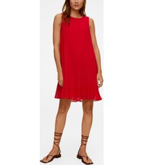 mango women's pleated short dress