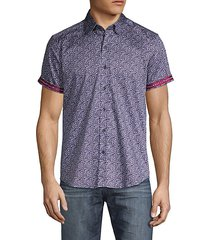 amado tailored-fit printed stretch cotton shirt