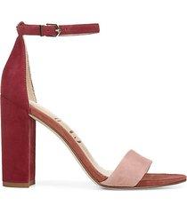trail blazeryaro suede-heeled sandals