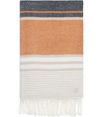 calvin klein cozy striped blanket scarf