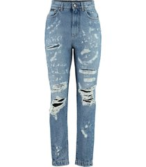 dolce & gabbana amber worn-out details jeans