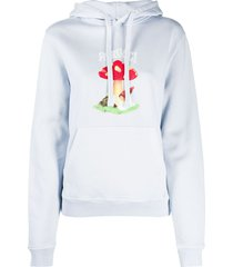 fiorucci mushroom print hoodie - blue