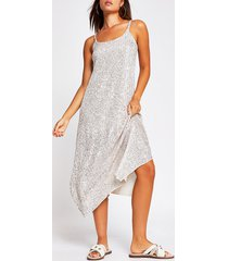river island womens silver sequin cami dress