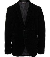 comme des garçons pre-owned skinny lapels velvet blazer - black