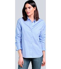 blouse alba moda blauw