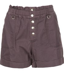 paperbag shorts jackson  donkerpaars