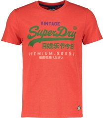 superdry t-shirt - slim fit - rood