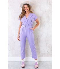 pocket jumpsuit lila