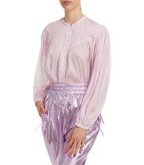 camicia donna maniche lunghe blusa kiledia