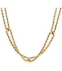 flexible golden links necklace