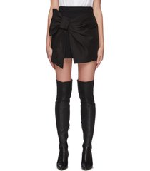 front bow panel high waist shorts