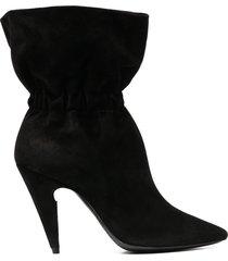 saint laurent étienne pull-on ankle boots - black