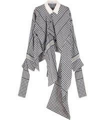 loewe asymmetric cotton and linen shirt