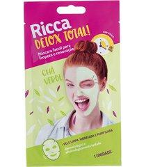 máscara facial ricca limpeza e renovação