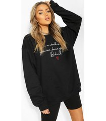100% proceeds donated to charity sweat shirt, black