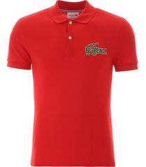 lacoste maxi logo polo shirt